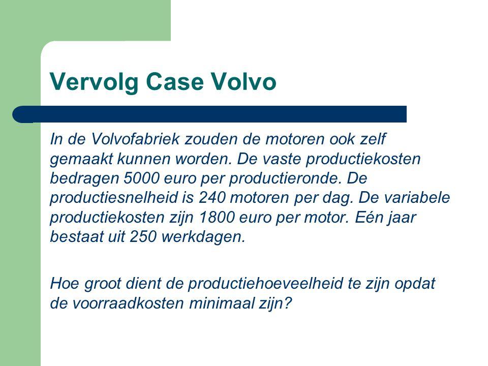 Vervolg Case Volvo