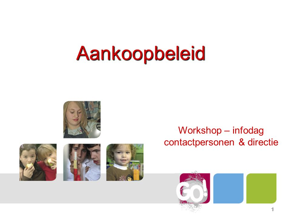 Workshop – infodag contactpersonen & directie