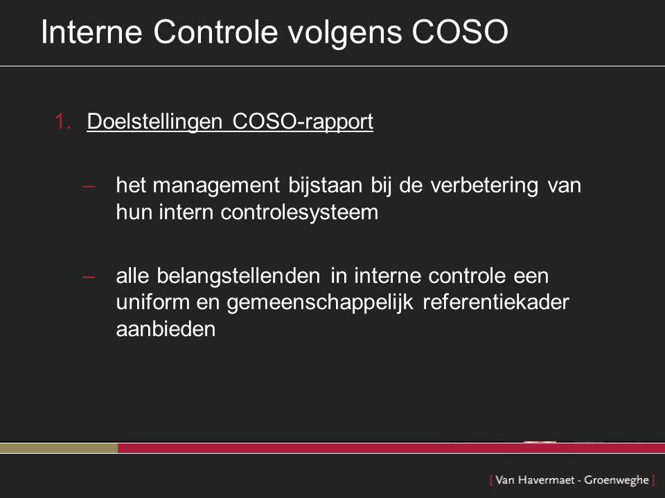 Interne Controle volgens COSO