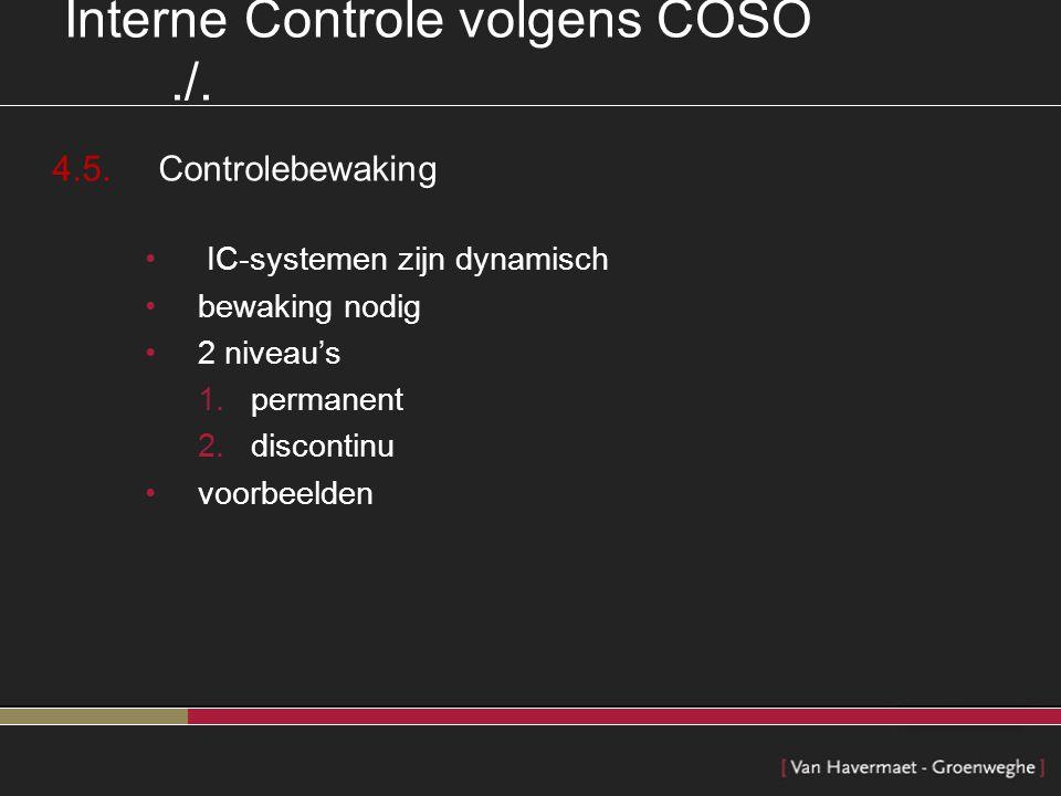Interne Controle volgens COSO ./.