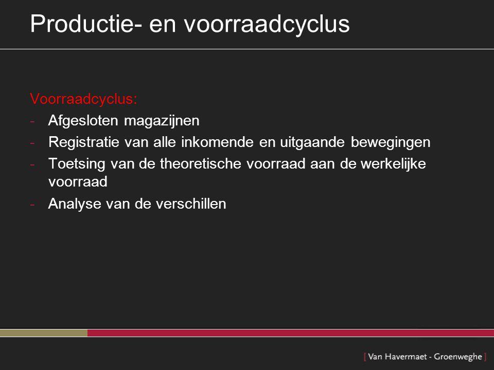 Productie- en voorraadcyclus