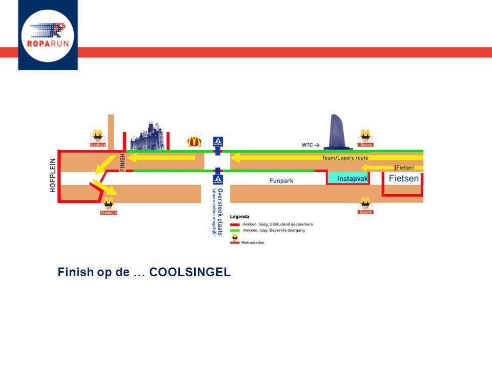 Finish op de … COOLSINGEL