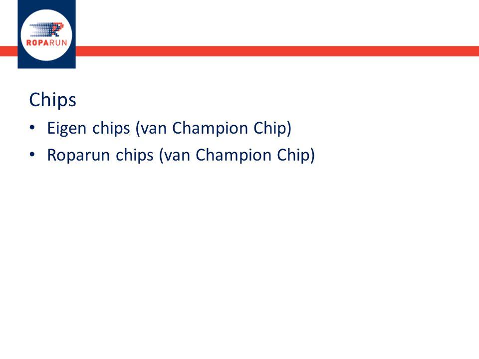 Chips Eigen chips (van Champion Chip)