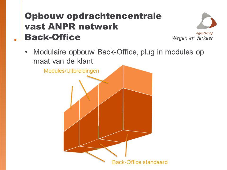 Opbouw opdrachtencentrale vast ANPR netwerk Back-Office