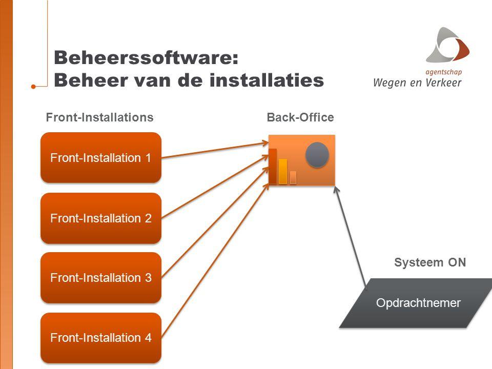 Beheerssoftware: Beheer van de installaties