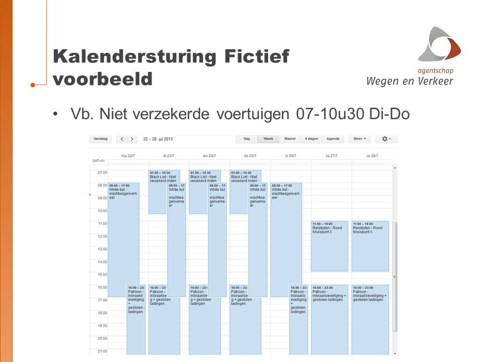 Kalendersturing Fictief voorbeeld