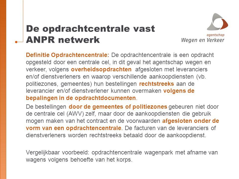 De opdrachtcentrale vast ANPR netwerk