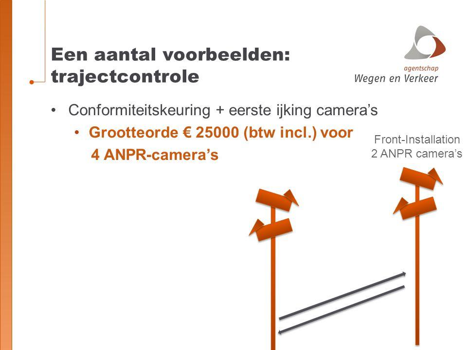 Een aantal voorbeelden: trajectcontrole