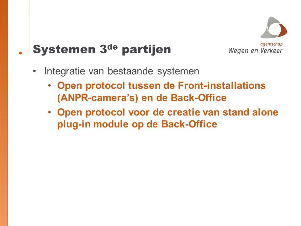 Systemen 3de partijen Integratie van bestaande systemen