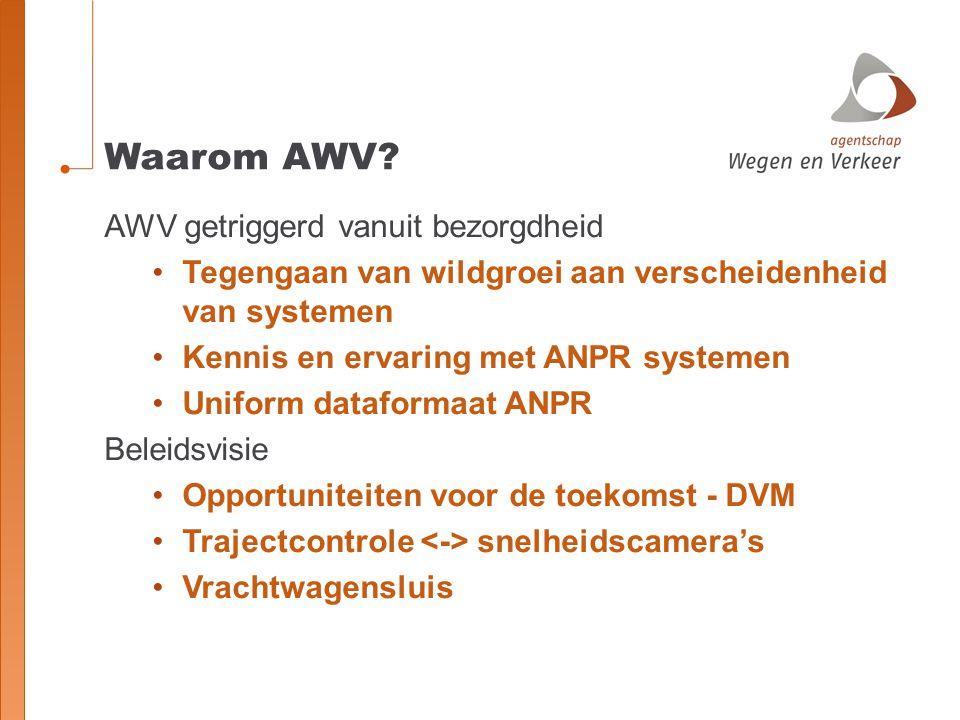 Waarom AWV AWV getriggerd vanuit bezorgdheid