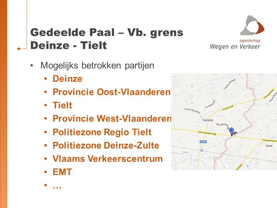 Gedeelde Paal – Vb. grens Deinze - Tielt