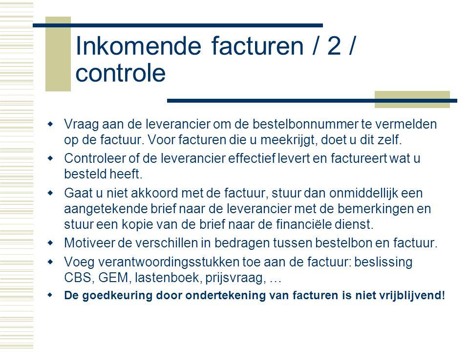 Inkomende facturen / 2 / controle