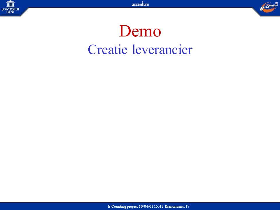 Demo Creatie leverancier