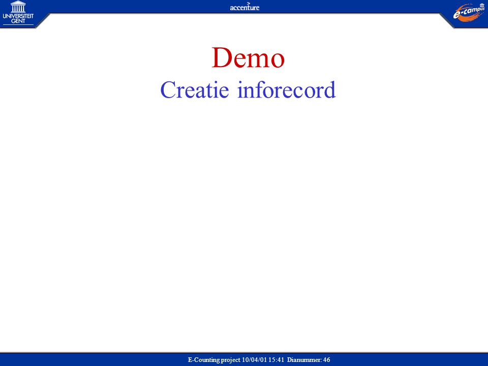 Demo Creatie inforecord