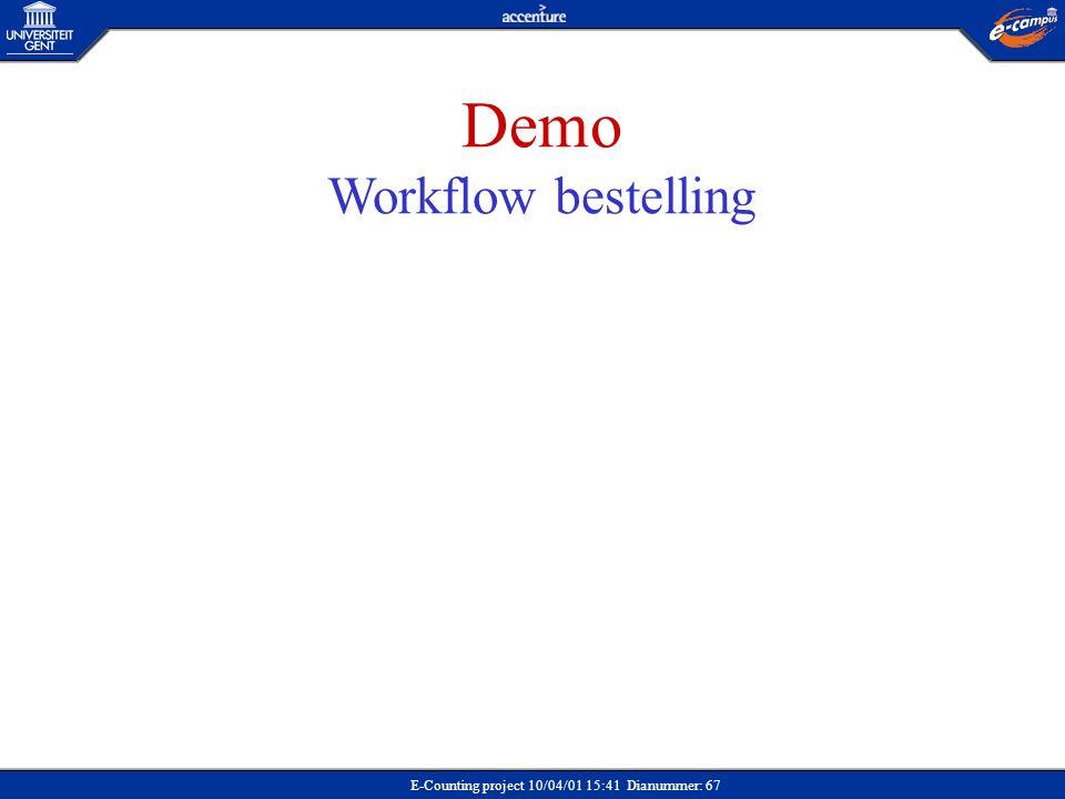 Demo Workflow bestelling