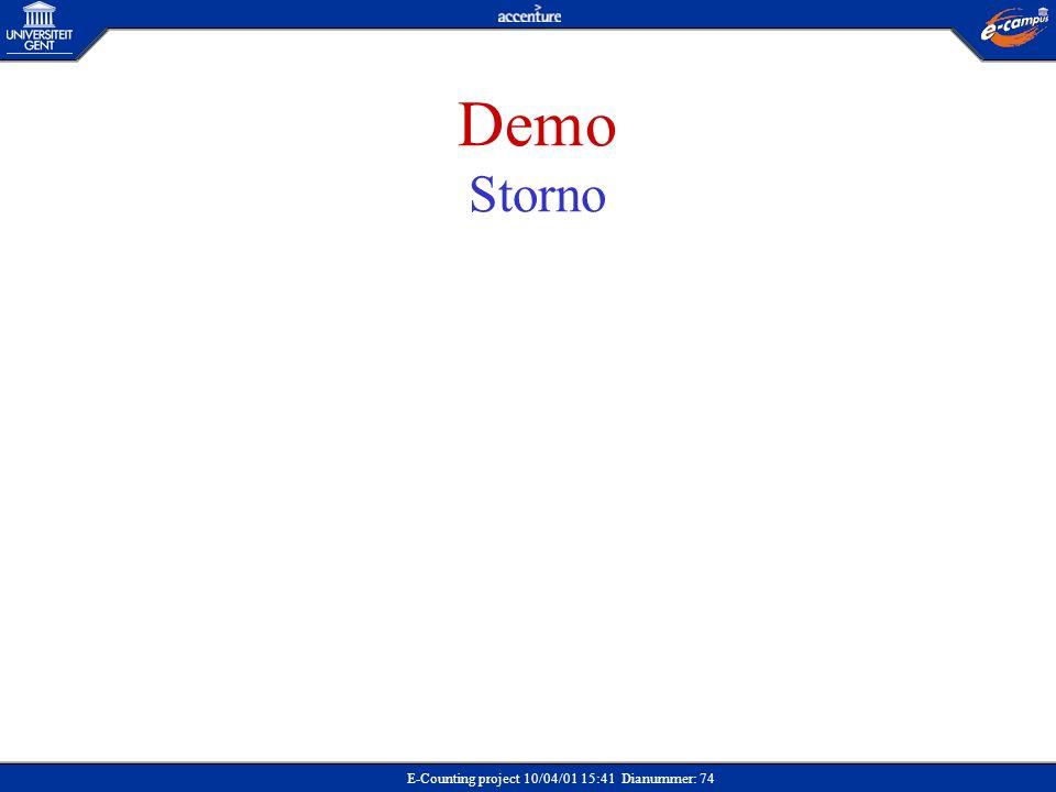 Demo Storno Demo: Storno Situatieschets
