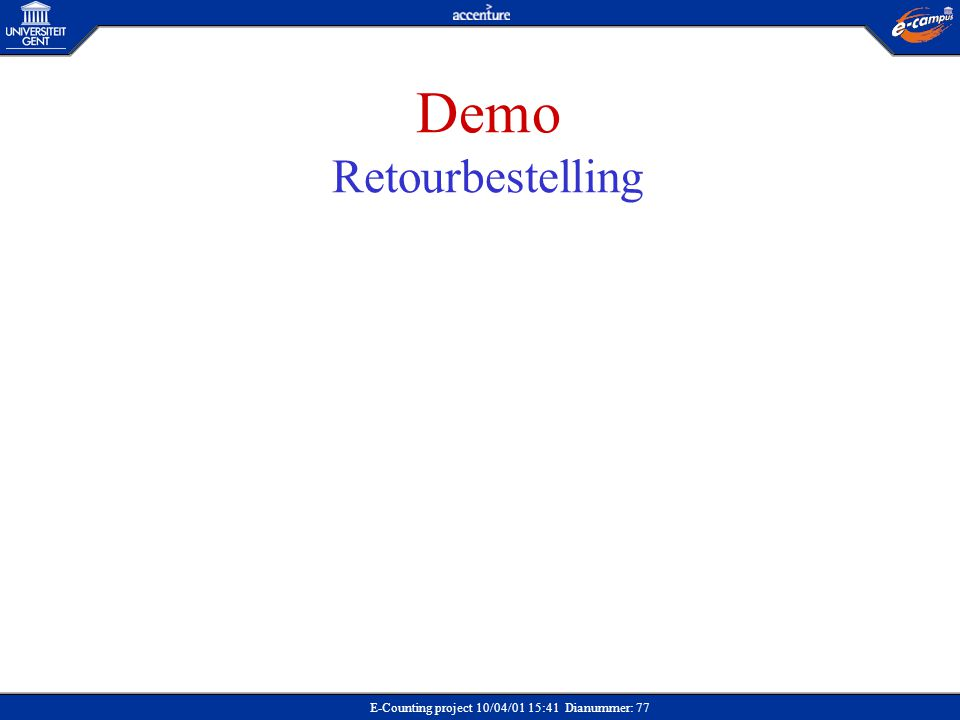 Demo Retourbestelling