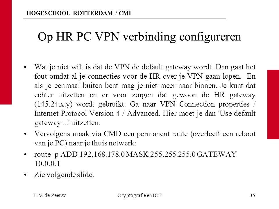 Op HR PC VPN verbinding configureren