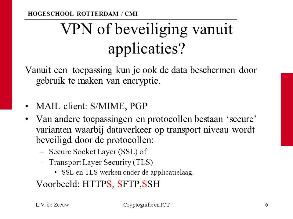 VPN of beveiliging vanuit applicaties