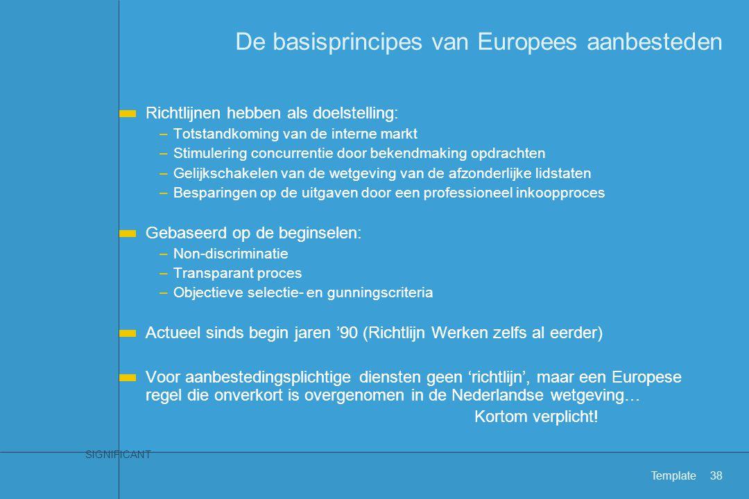 De basisprincipes van Europees aanbesteden