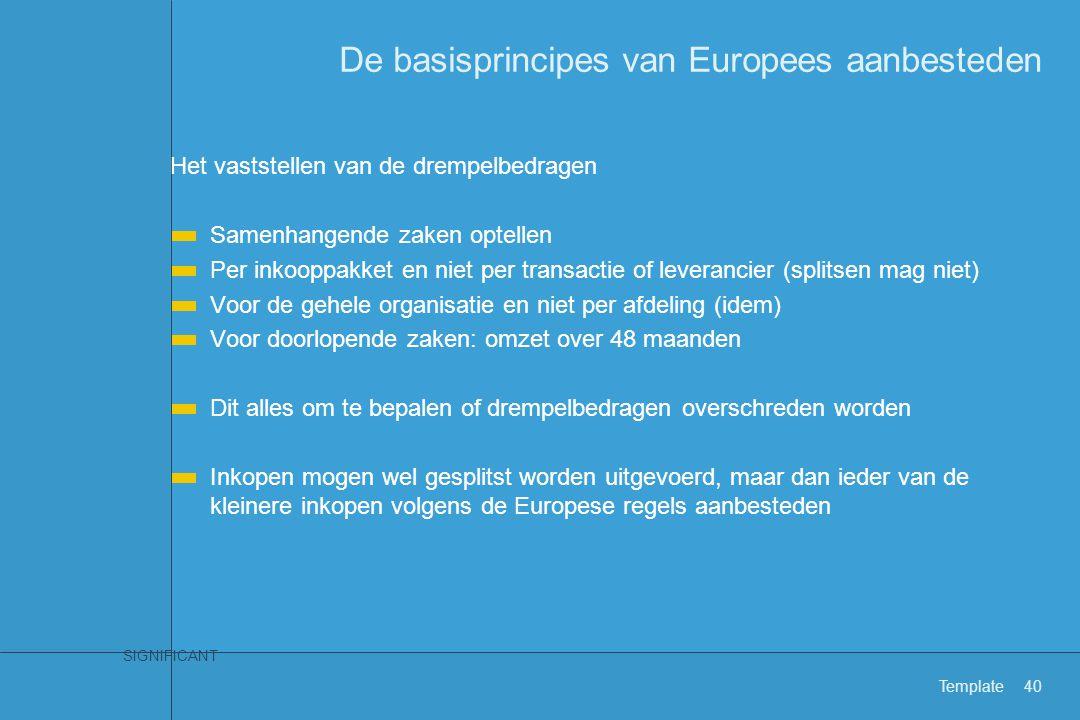 Wat betekenen de Europese aanbestedingsregels