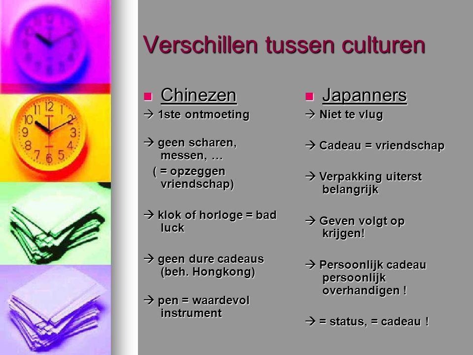 Verschillen tussen culturen