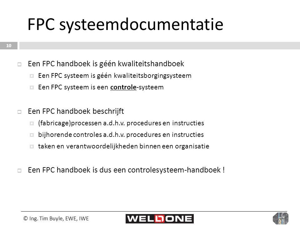FPC systeemdocumentatie