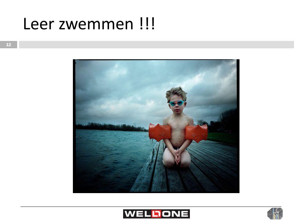Leer zwemmen !!!