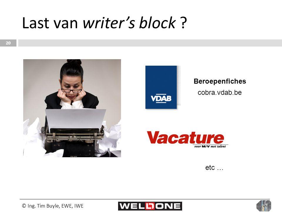 Last van writer's block
