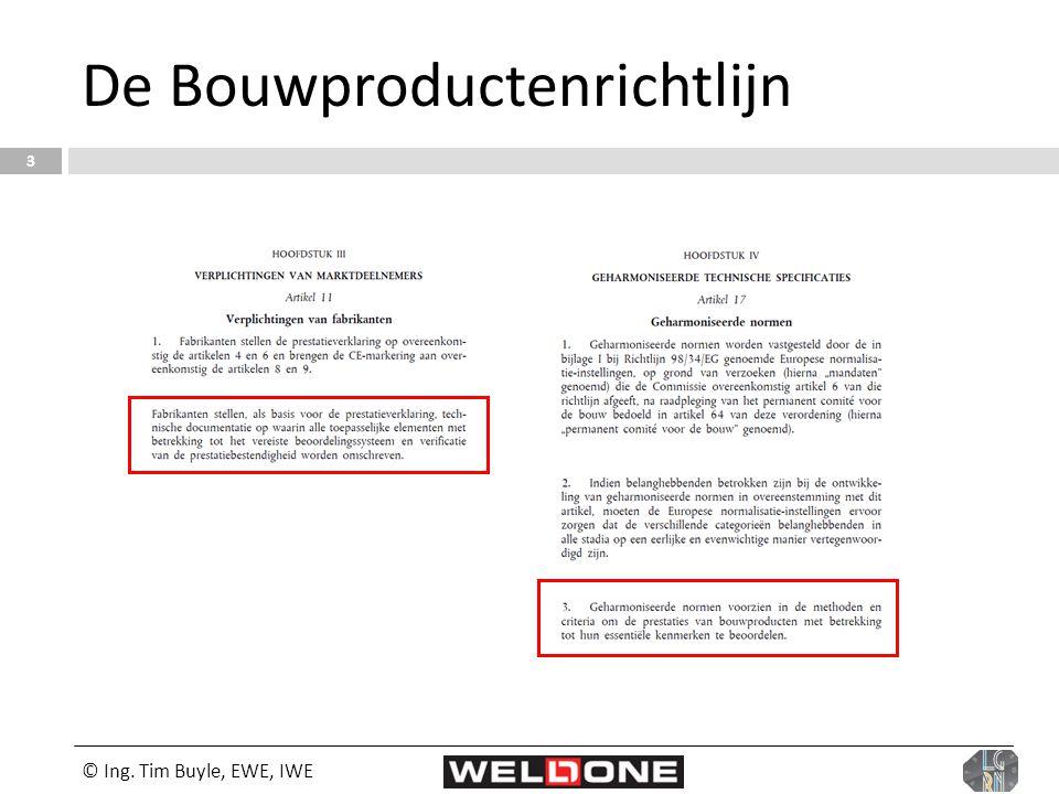 De Bouwproductenrichtlijn