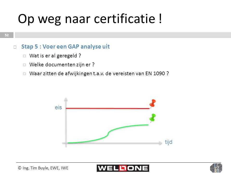 Op weg naar certificatie !