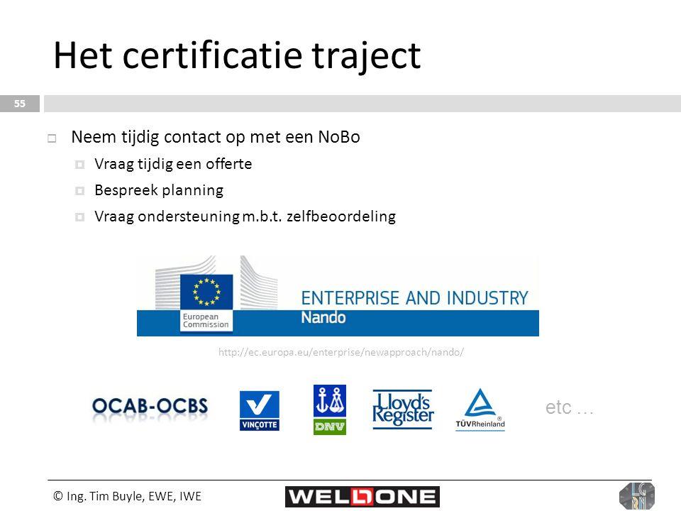 Het certificatie traject
