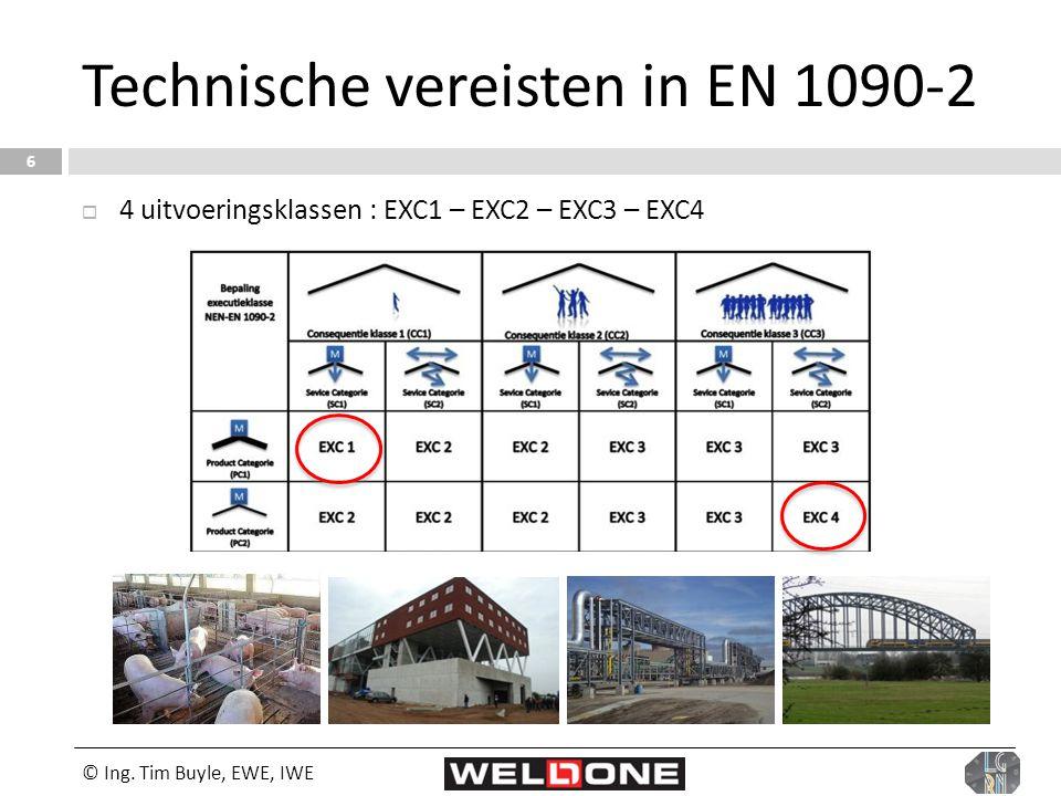 Technische vereisten in EN 1090-2