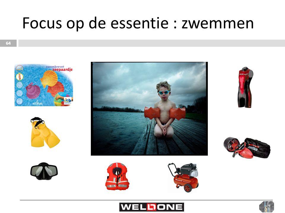 Focus op de essentie : zwemmen