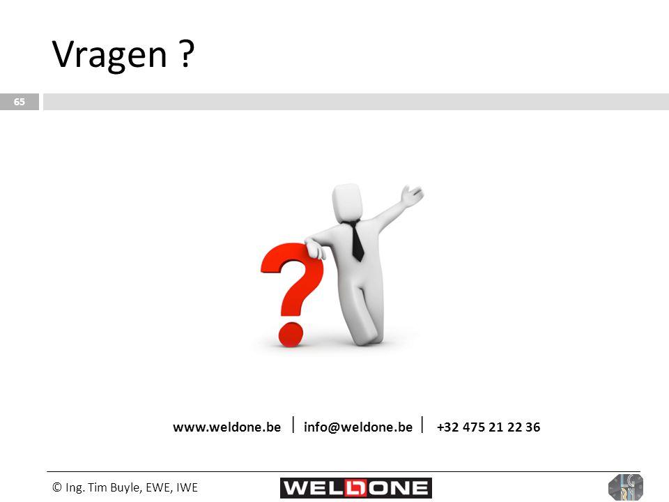 www.weldone.be  info@weldone.be  +32 475 21 22 36