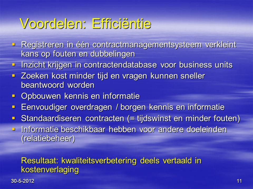 Voordelen: Efficiëntie