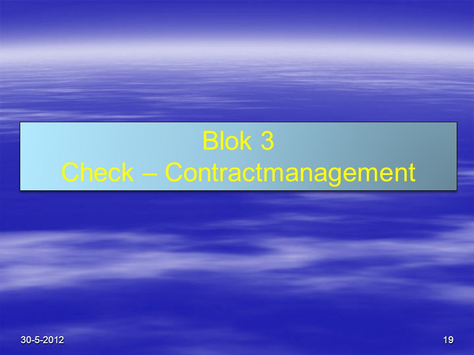 Check – Contractmanagement