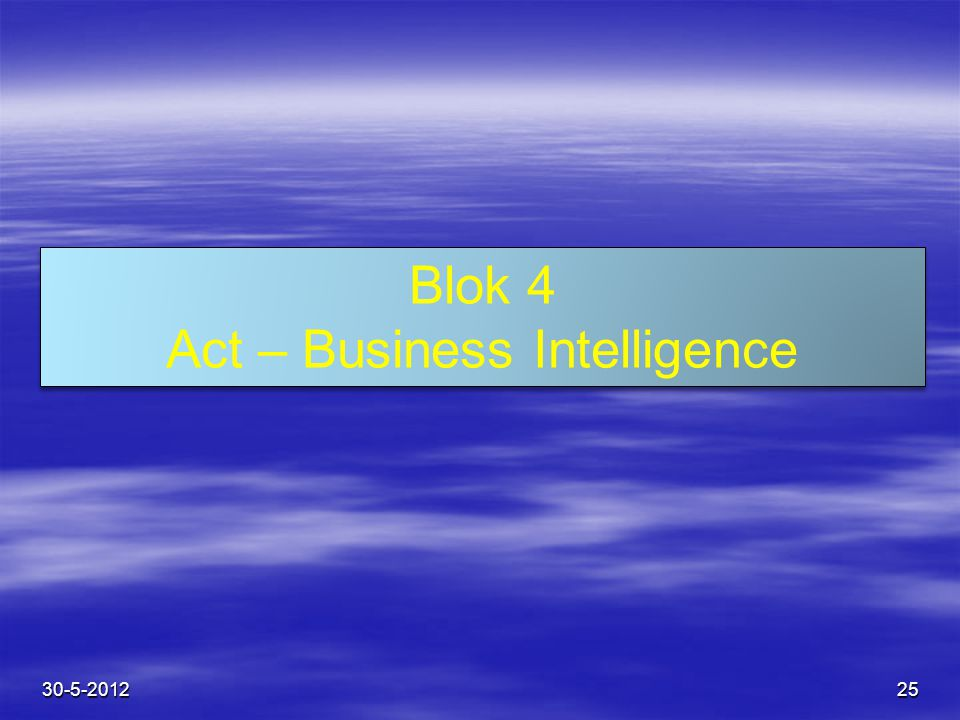 Act – Business Intelligence