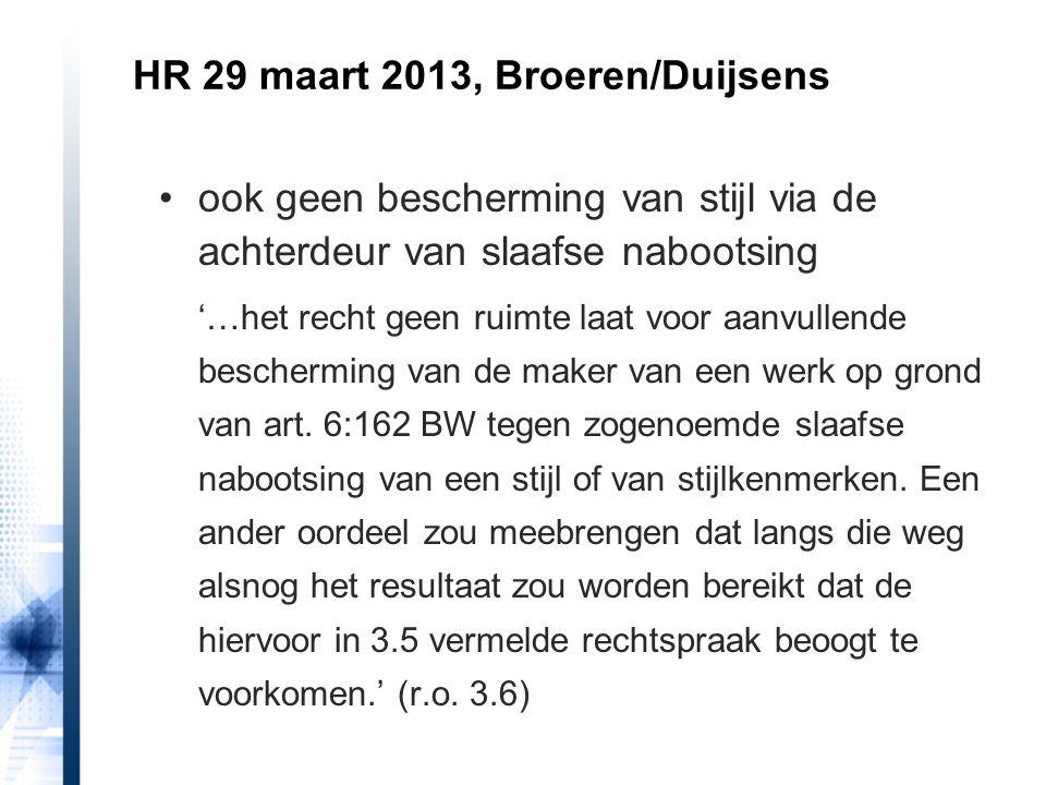 HR 29 maart 2013, Broeren/Duijsens