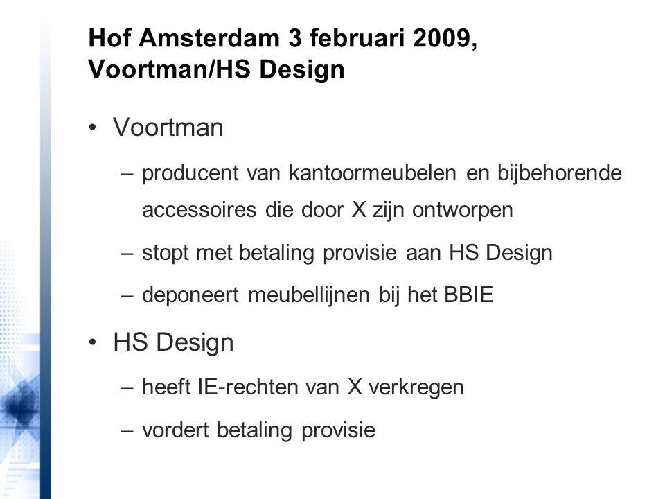 Hof Amsterdam 3 februari 2009, Voortman/HS Design