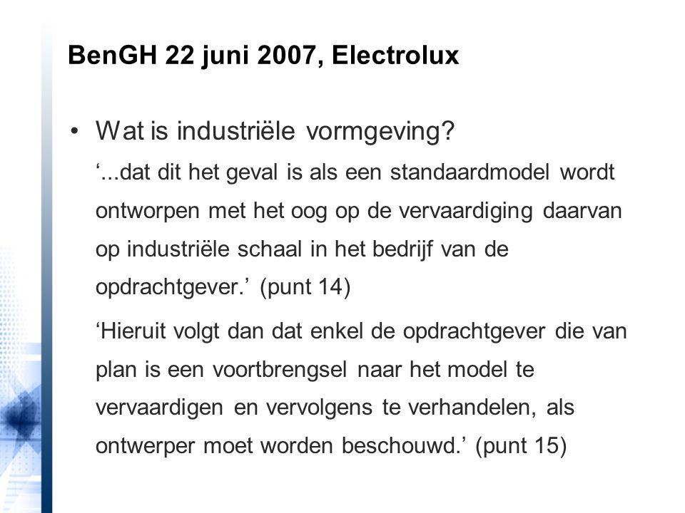 BenGH 22 juni 2007, Electrolux