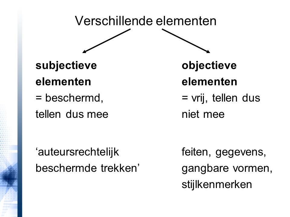 Verschillende elementen