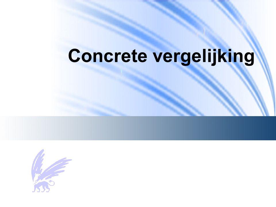 Concrete vergelijking