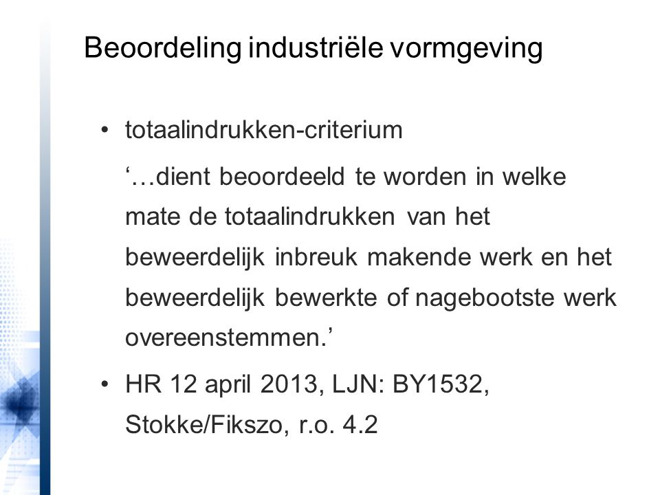Beoordeling industriële vormgeving