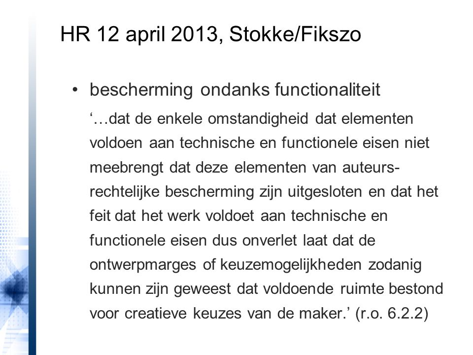 HR 12 april 2013, Stokke/Fikszo