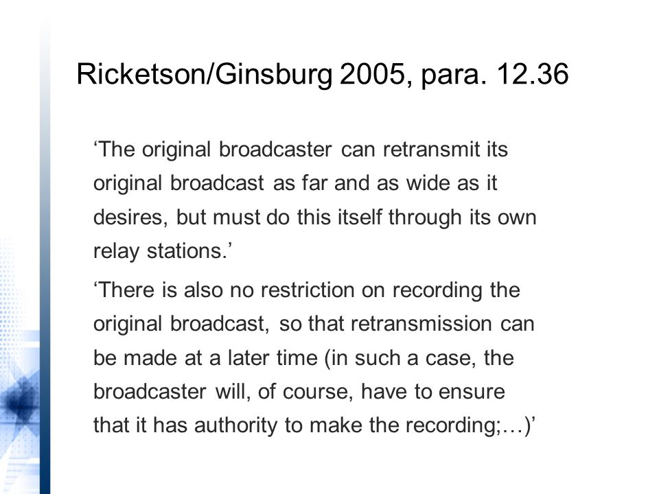 Ricketson/Ginsburg 2005, para. 12.36