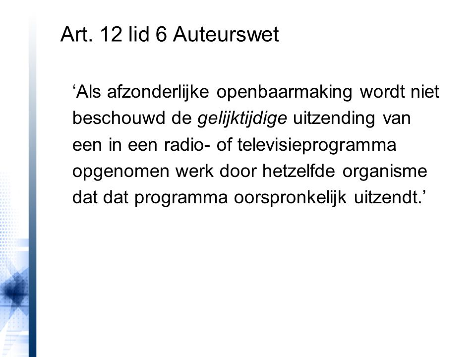 Art. 12 lid 6 Auteurswet