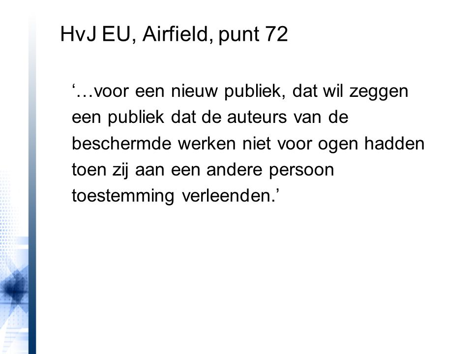 HvJ EU, Airfield, punt 72