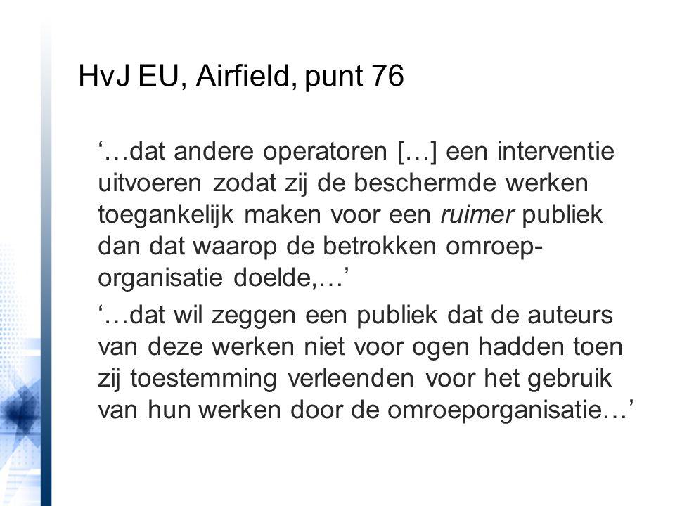HvJ EU, Airfield, punt 76
