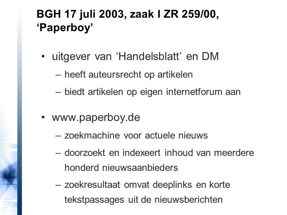 BGH 17 juli 2003, zaak I ZR 259/00, 'Paperboy'